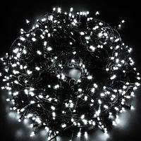 Уличная Гирлянда светодиодная нить, 15 м черный провод 180 led - цвет холодный белый