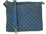 Женская джинсовая стеганная сумочка Площадь, фото 2