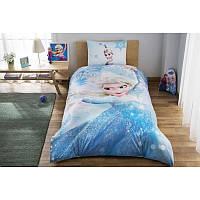 Комплект постельного белья для девочки TAC Frozen Glitter, ранфорс