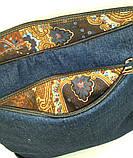 Женская джинсовая стеганная сумочка Площадь, фото 5