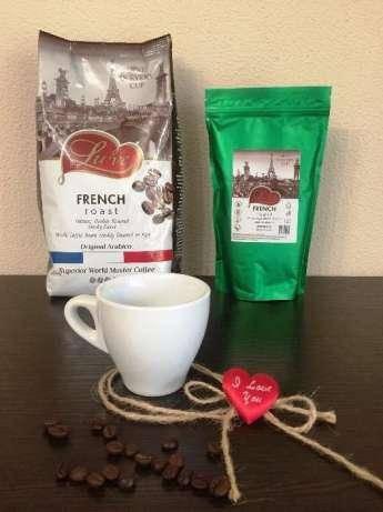 Кофе натуральный жареный в зернах Lu've French Roast 250г, фото 2
