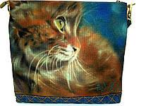 Джинсовая стеганная сумочка Рыжик, фото 1