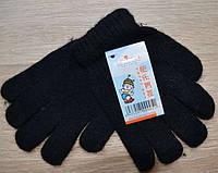 Перчатки детские шерстяные одинарные Lemeiren A-21, чёрные