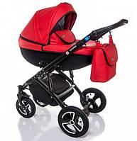 Детская коляска универсальная 2 в 1 Broco Infinity red (Броко Инфинити, Польша)