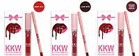 Набор жидкая помада и карандаш Kylie KKW Matte Liquid Lipstick and Lip Liner