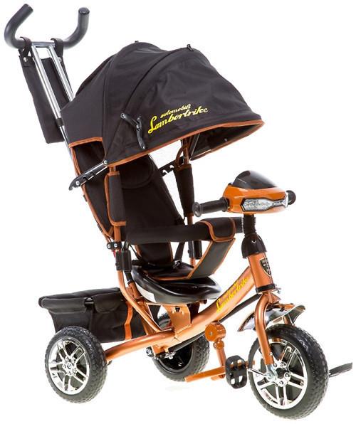Детский трехколесный велосипед AZIMUT AIR LAMBOTRAIK (LAMBORGINI)  Коричневый