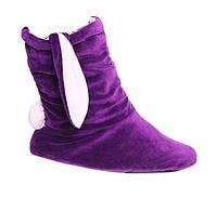 Тапочки-зайчики фиолетовые