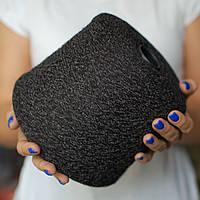 Пряжа-букле, серый с чёрным (бобина 360 г)