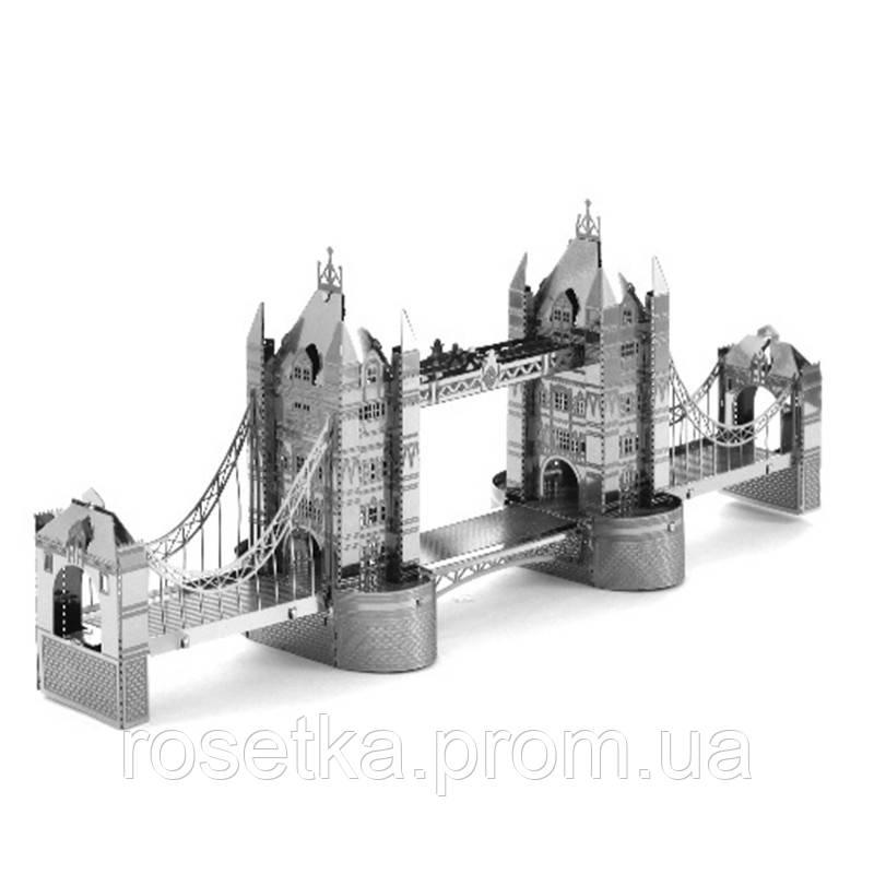 """Металлическая сборная 3D модель """"Тауэрский мост Tower Bridge"""", Metalic Nano Puzzle"""