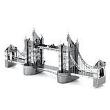 """Металлическая сборная 3D модель """"Тауэрский мост Tower Bridge"""", Metalic Nano Puzzle, фото 2"""