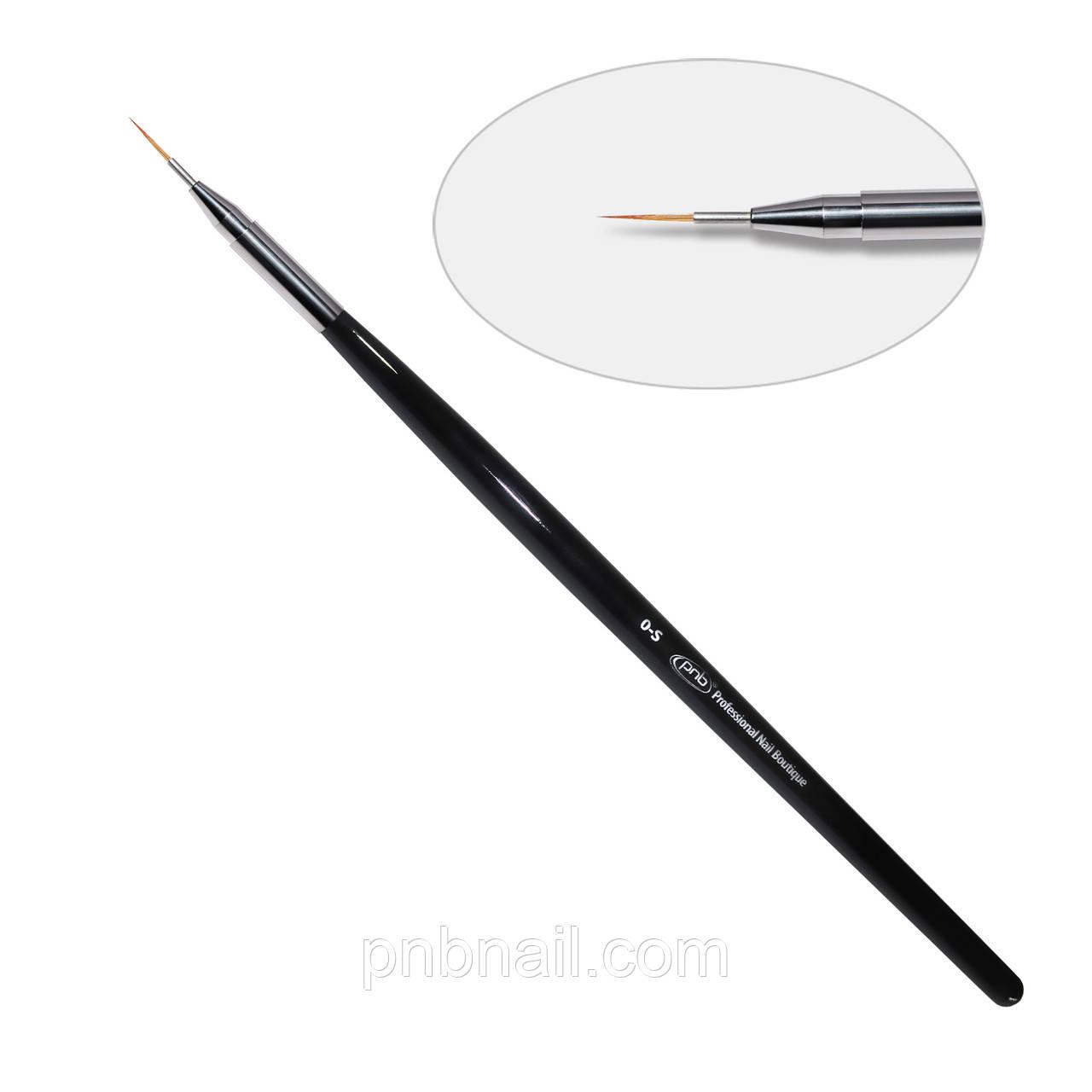 7D.Кисть для дизайна круглая 0-s PNB, нейлон /Gel Brush round 0-s PNB,nylon
