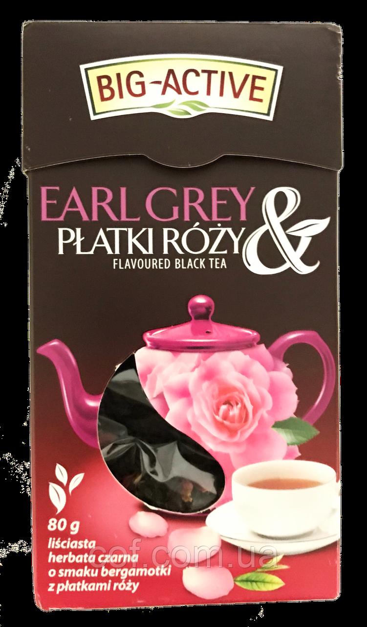Чай черный заварной Big Active с лепестками роз 100г