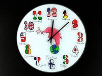 Часы настенные из стекла Интернациональ