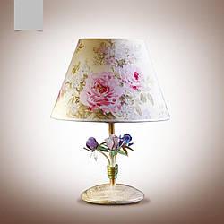 Настільна лампа з абажуром у стилі прованс 6400-4