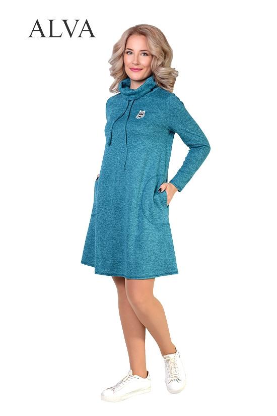 Модное женское платье свободного силуэта с горловиной хомут.Разные цвет.а