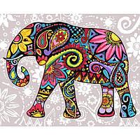 Картины по номерам/ обложка. Яркий слон. 40*50
