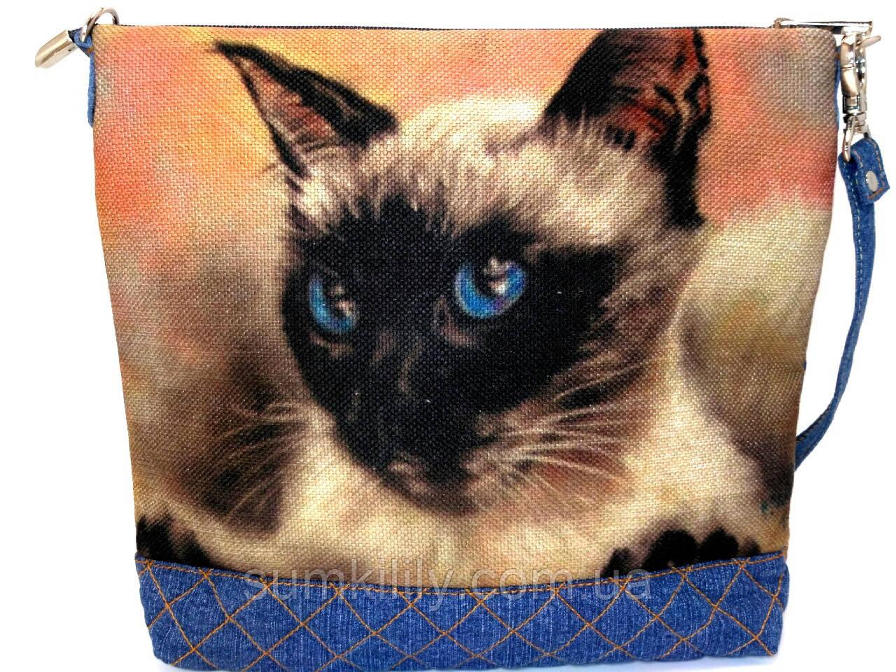 Женская сумочка Сиам Голубоглазик