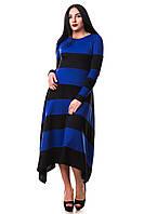Платье Пчелка ZANNA BREND 304 S,M,L,XL (44,46.48,50) черный с электриком, фото 1