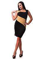 Платье GOLD Zanna Brend 57 S,M (44,46) цвет чёрный с золотым, фото 1