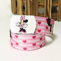 Холстовый ремень для модницы Minnie Mouse №1