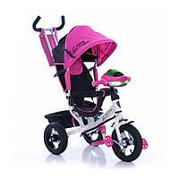 Детский трехколесный велосипед AZIMUT AIR LAMBOTRAIK (LAMBORGINI)  Белый/Розовый