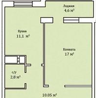 """1 комнатная квартира 45,55 метра ЖК """"Мелодия"""", Одесса, фото 1"""