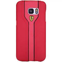 Кожаный чехол Ferrari для Samsung Galaxy S7 G930, фото 1