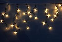Бахрома уличная 3м*0,5м белый теплый (прозрачная лампочка)