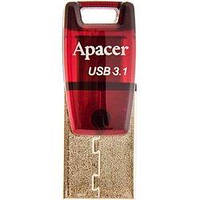 USB флеш накопитель Apacer 32GB AH180 Red Type-C Dual USB 3.1 (AP32GAH180R-1)