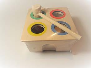 Детская  деревянная игрушка  для развития Стучалка Квадрат