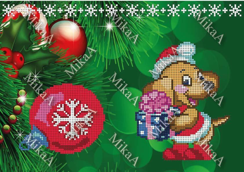 """Схема-заготовка для маленького  подарочного мешочка - """"Новогодний подарок"""" ПМ 9 """"С/З"""""""