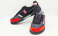 Обувь футбольная сороконожки ZEL OB-90203-BKR (р-р 40-45)
