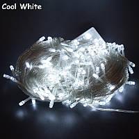 Внутренняя Гирлянда светодиодная нить 13.5м, 200 led  белый прозрачный провод - цвет белый