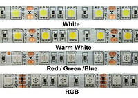 Cветодиодная лента SMD 5050 12V 10см белая