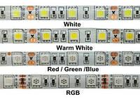 Cветодиодная лента SMD 5050 12V 10см желтая