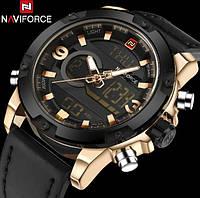 Мужские наручные часы Naviforce Kosmos 9097 Gold по супер цене! Гарантия!