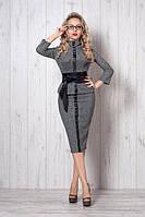 Молодежный костюм, серая клеточка, размер 44  мод 269-1, фото 1