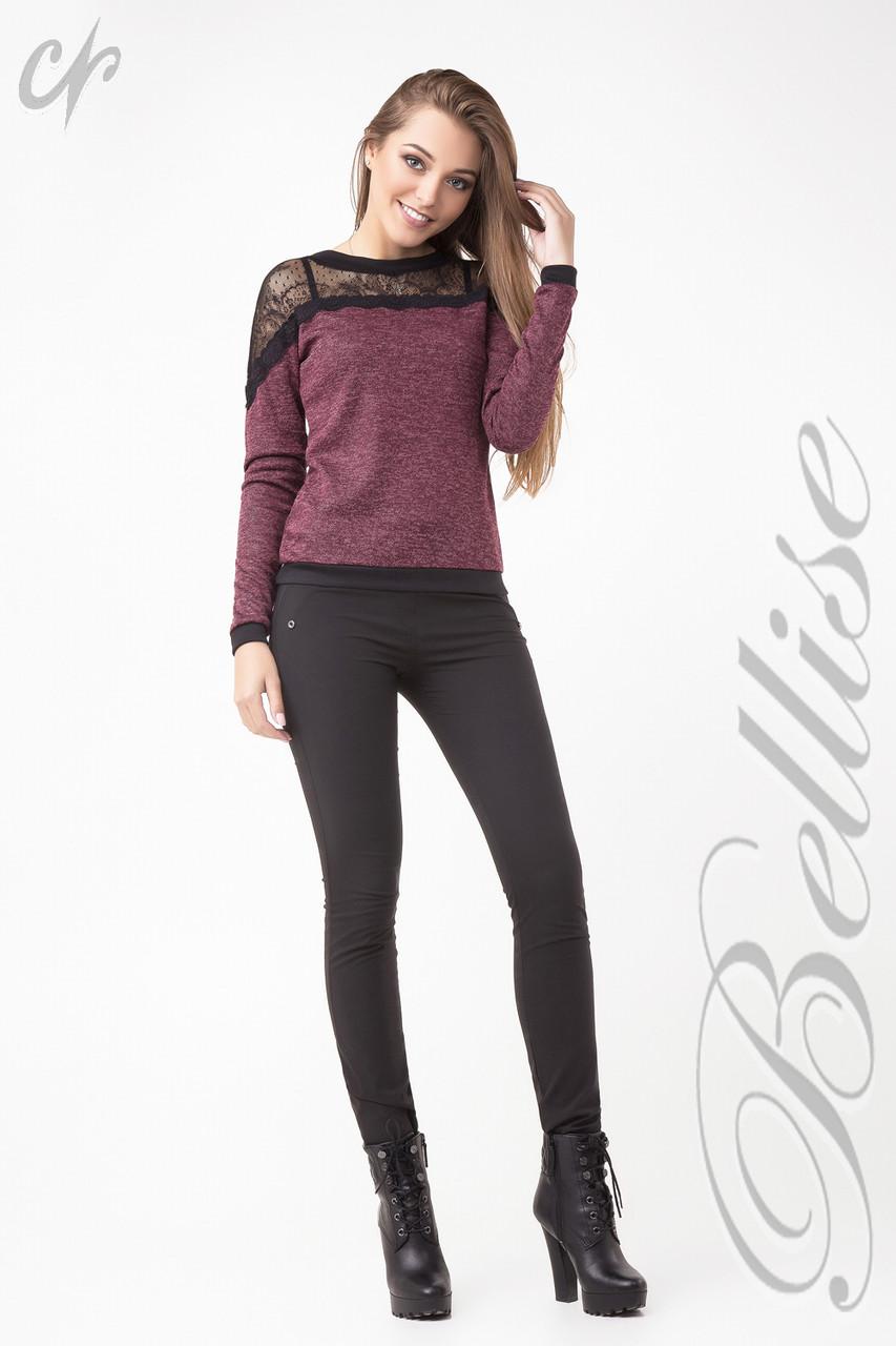 ae58eb931a5 Оригинальная женская блуза из трикотажа с гипюром - купить по лучшей ...