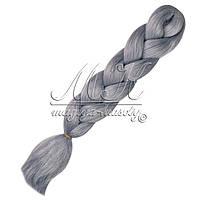 Канекалон для кос, платина (седой)