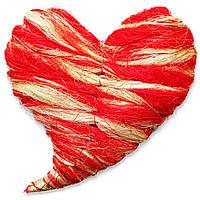 Сердце декоративное из сизали (32 см)
