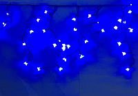 Бахрома уличная черный провод 3.3мм 5м*0,5м синяя
