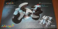 """Мотоцикл LM-3 поліцейський 82 деталі дерев""""яний конструктор з магнітним кріпленням деталей(Ч)"""