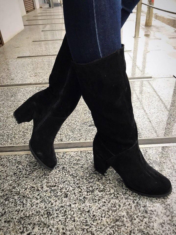 37 размер! Зимние женские сапоги на устойчивом каблуке