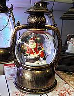 Новорічний декор лампа - куля зі снігом Snow Globe 159
