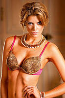Бюстгалтер Leopard-Pink Push-Up Bra, 32C, фото 1