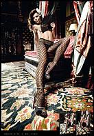 Роскошные колготы в тонкую сетку Black Pantyhose With Contrasting Pattern, фото 1