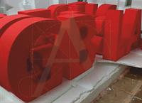 Буквы, фигуры, цифры из пенопласта