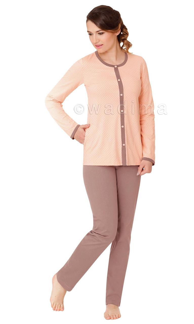 Жіноча піжама з довгим рукавом Wadima 104381