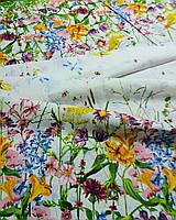 Ткань для скатерти рогожка Лужайка