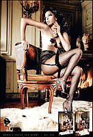 Пикантные чулки с узором Black Net Retro Stockings